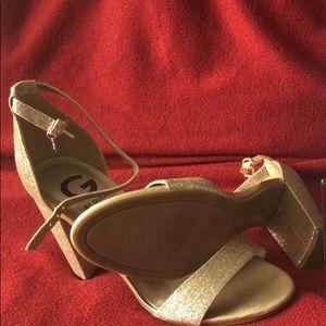 Guess Gold glitter heels 8.5